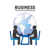Business design over white background vector illustration  — Stock Vector