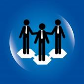 Business design over blue background vector illustration  — Stock Vector