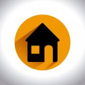 Home desgin over white background vector illustration — Stock Vector
