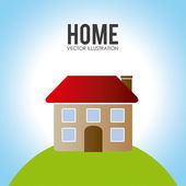 Home desgin over landscape background vector illustration — Stock Vector