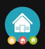 Home desgin over black background vector illustration — Stock Vector