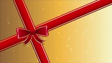 Gift ribbon — Stock Video