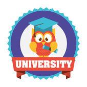Diseño de la universidad — Vector de stock