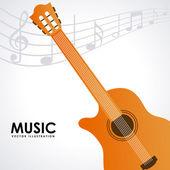 Ontwerp muziek — Stockvector