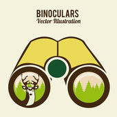Binoculars design — Vector de stock