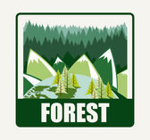 Forest diseño — Vector de stock