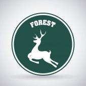 Disegno cervo — Vettoriale Stock