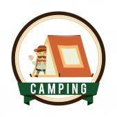 Camping design — Stockvektor