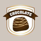 Choklad design — Stockvektor