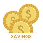 Savings design — Stock Vector