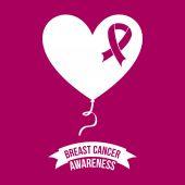 Breast cancer design — Stock Vector