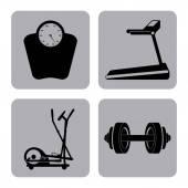 Gym label design — Stock Vector