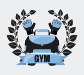 Gym label design — Stock Vector
