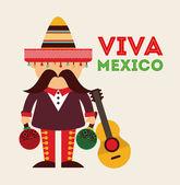 Mexican icon design — Stock Vector