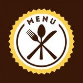 Diseño del menú restaurante — Vector de stock