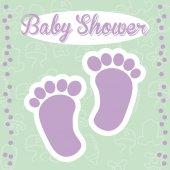 Baby shower design — ストックベクタ