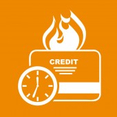 Credit time — Stock Vector