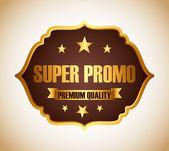 Super promo design — Stock Vector