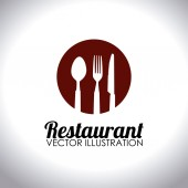 Food and restaurant design, vector illustration. — Stock Vector