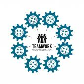 Teamwork design,vector illustration. — Stockvektor