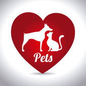 Pets design,vector illustration. — Stock Vector
