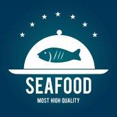 Seafood design, vector illustration. — Stockvector