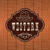 Western banner design — Stock Vector