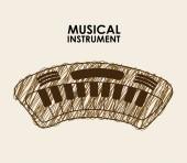 Musical — Stock Vector