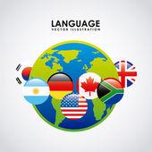 Language poster design — Stock Vector