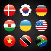 Flags set — Stock Vector