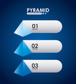 Pyramid infographic — Stock Vector
