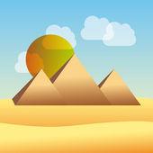 Egypt pyramid — Stock Vector