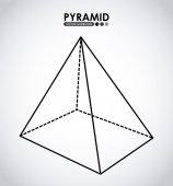 Pyramid icon — Stock Vector