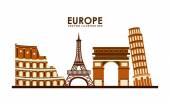 Europe design — Stock Vector