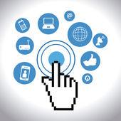 Social media design, vector illustration. — Stock Vector