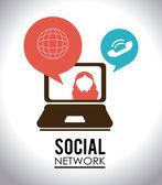 Social media design, vector illustration. — ストックベクタ