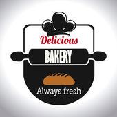 Bakery design, vector illustration. — ストックベクタ