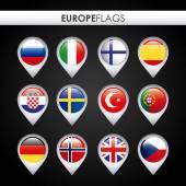 Europe flags design — Stock Vector
