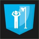 Shower silhouette design — Stock Vector #60571941
