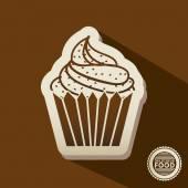 Delicious food design — Stock Vector