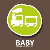 Baby icon design — Stock Vector