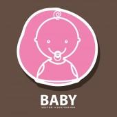Baby icon design — Stock Vector