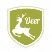 Hirsche zu jagen Gestaltung — Stockvektor