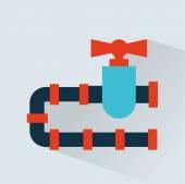 Pipeline  icon design — Stock Vector