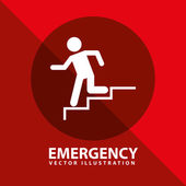Emergency signal — Stock Vector