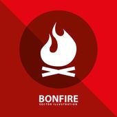 Bonfire vector — Stock Vector