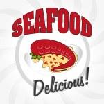Seafood design, vector illustration. — Stock Vector #60758207