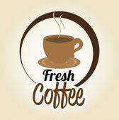 Coffee design, vector illustration. — Stockvektor