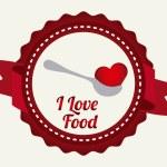 Love food — Stock Vector #60785441