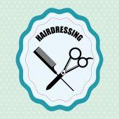 Desenho de loja de barbeiro — Vetor de Stock